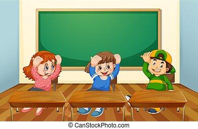 sala aula, estudante