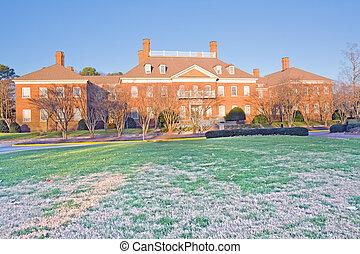 sala aula, predios, universidade, virgínia, campus