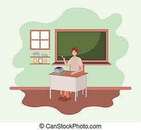 sala aula, professor