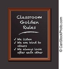 sala aula, regras, junta giz