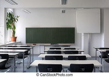 sala aula, vazio