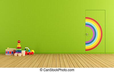 sala, brinquedos