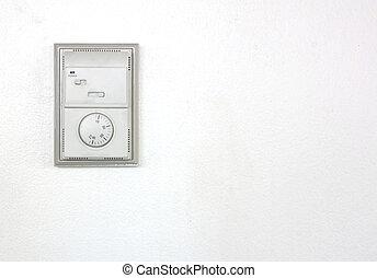 sala, condicionador ar, thermostat.