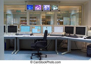 sala controllo, di, uno, russo, potenza nucleare, generazione, pianta