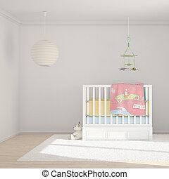sala, crianças, brinquedos