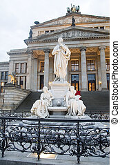 sala de conciertos, konzerthaus, el, gendarmenmarkt, berlín, alemania