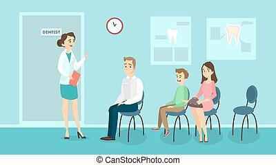 sala de espera, dentistry.