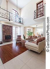 sala de estar, casa, -, elegante, classy