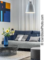 sala de estar, cozy, sofá