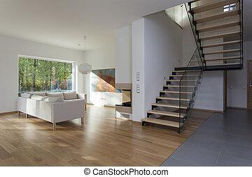 sala de estar, escadas