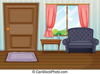 sala de estar, limpo