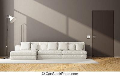 sala de estar, marrom, minimalista