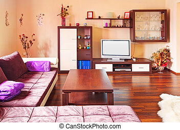 sala de estar, modernos