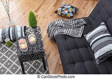 sala de estar, para, relaxamento
