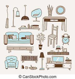 sala de estar, vetorial