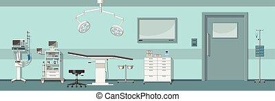 sala de operaciones, ilustración
