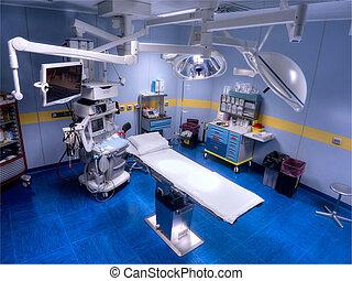 sala de operaciones, vista desde arriba