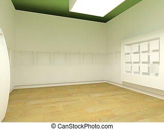 sala, espaço, hospitalar, esperando, clínica, ou, vazio