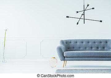 sala, espaçoso, sofá