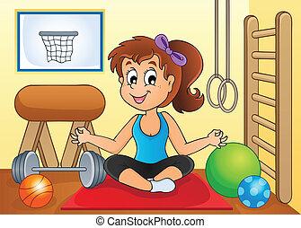 sala gimnastyczna, 2, sport, temat, wizerunek