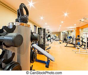 sala gimnastyczna, i, stosowność, room.