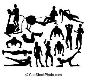 sala gimnastyczna, stosowność, sylwetka, działalność