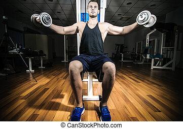 sala gimnastyczna, trening, trening