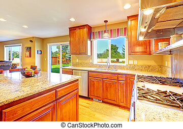 sala, luminoso, saída, luxo, quintal, cozinha