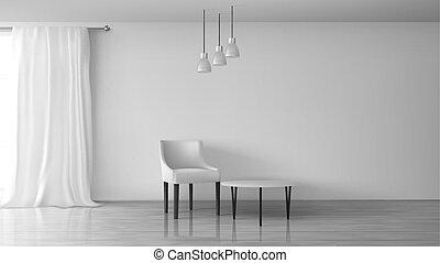 sala, realista, vector, minimalistic, interior