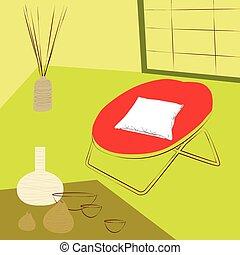 sala, relaxamento