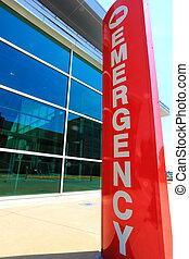 sala, sinal emergência