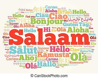 SALAAM (Hello Greeting in Persian,Farsi) word cloud in...