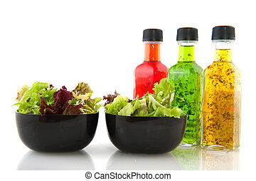 Salad and dressing