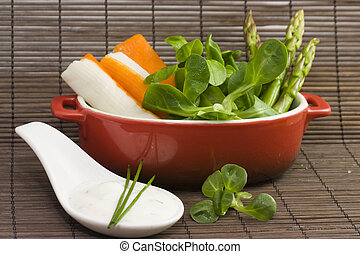 salad and tzatziki