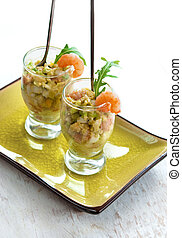 Salad avokado - Holiday appetizer starter with salad avokado...