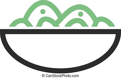 Salad Bowl - Salad, bowl, fresh icon vector image. Can also...