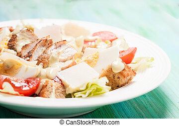 Salad Caesar in a plate