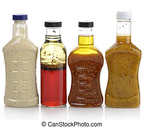 Salad Dressings - Assortment Of Salad Dressing Bottles