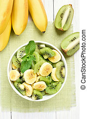 Salad from kiwi and banana