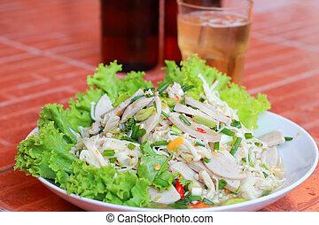 Salad golden mushroom