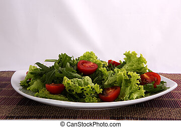 Salad in a dish
