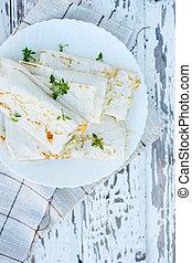 salad in pita bread