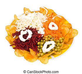 salad isolated on a white background