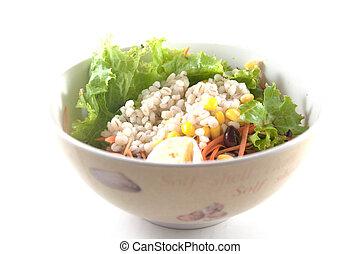 salad isolated on white background