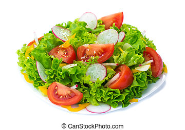 Salad isolated on white background