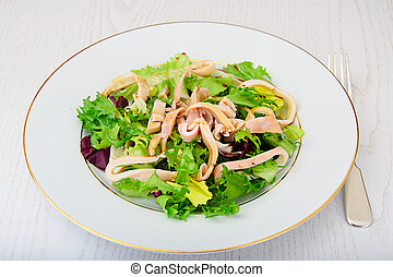 Salad Mix Batavian, Frise, Radicchio, Chicory, Squid Dietary...
