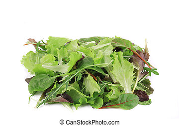Salad mix. Isolated on a white background.