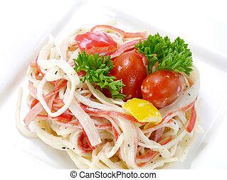 salad., nachahmung, krabbe