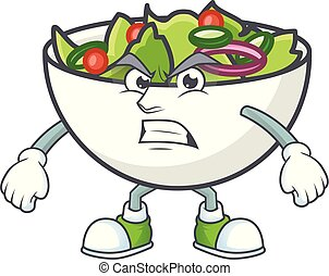 Salad of annoyed character in the cartoon