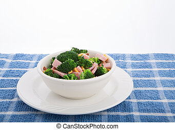 Salad of Broccoli Ham and Cheese